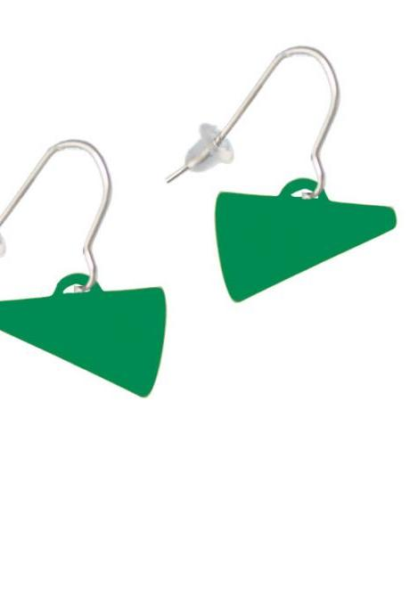 Acrylic 3/4' Green Megaphone French Earrings
