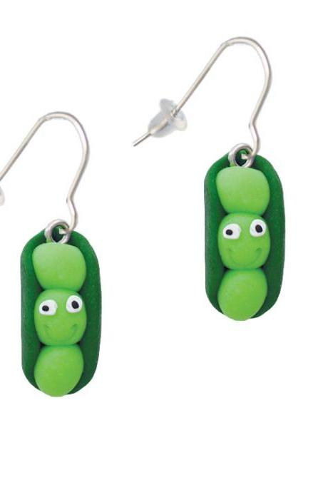 Fimo Clay Three Peas in a Pod French Earrings