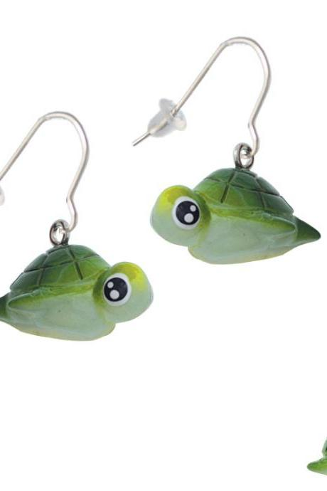 Resin Sea Turtle French Earrings