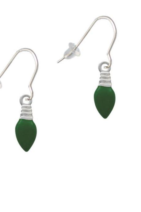Green Christmas Light French Earrings