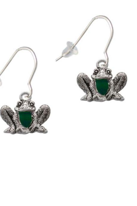 Frog Front French Earrings